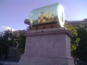 The fourth plinth - Ship in a bottle by Yinka Shonibare