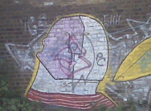 Two faces - Picasso-esque on the Lea photo
