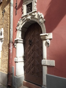 Photo of a door detail in Gamla Stan